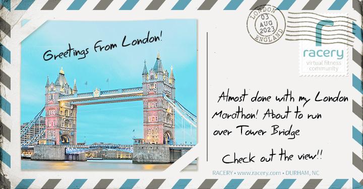 London virtual marathon digital postcard